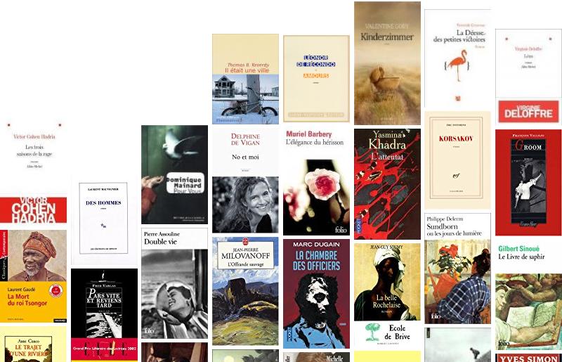 couvertures livres lauréats