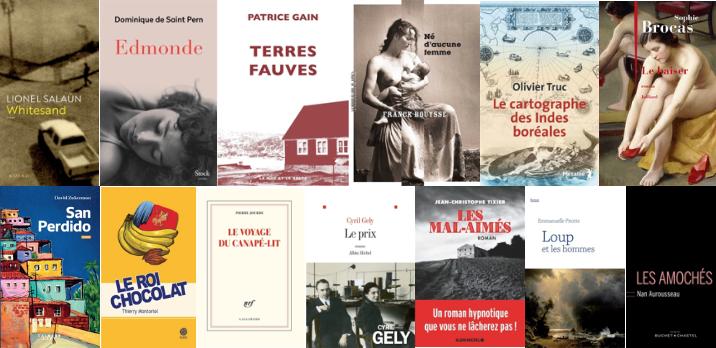 13 romans sélectionnés