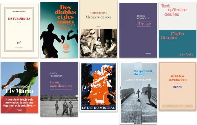 Première sélection des 10 titres du Prix des libraires 2021